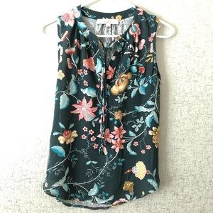 3 for $20 / Loft Green Floral Sleeveless Top